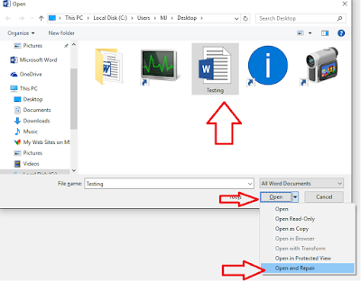 how to recover word document 2016