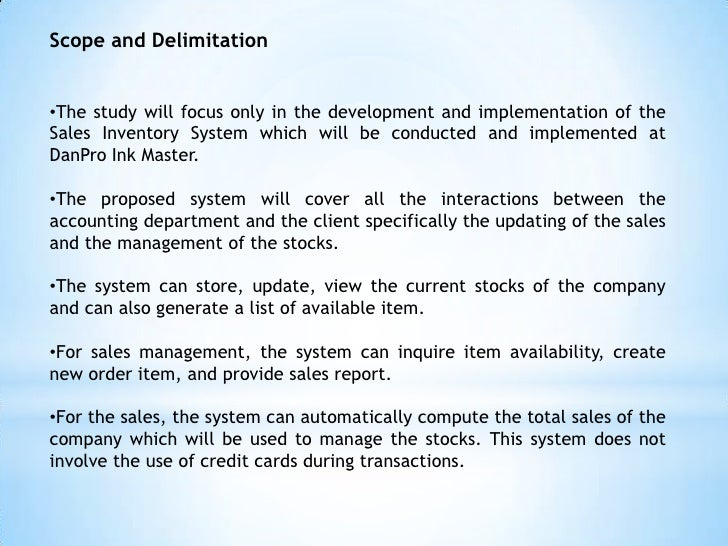 scope of document management system