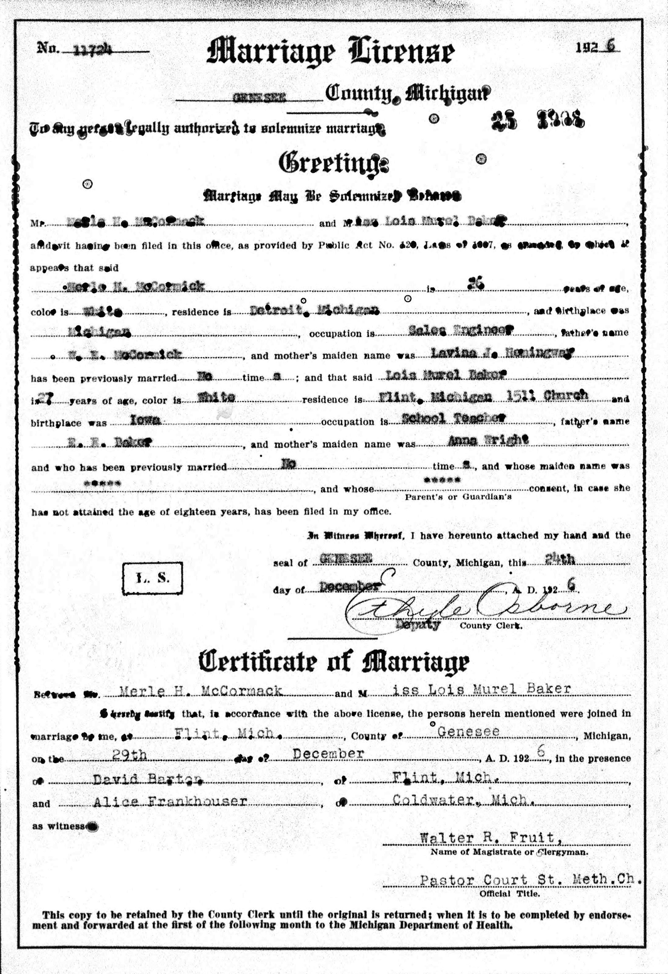 which is the document number on my marriage certificate queensland