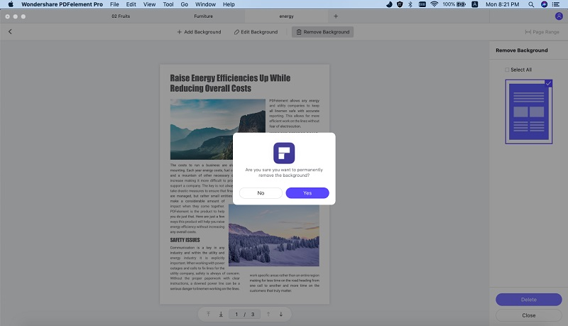 how to remove watermark from a pdf document