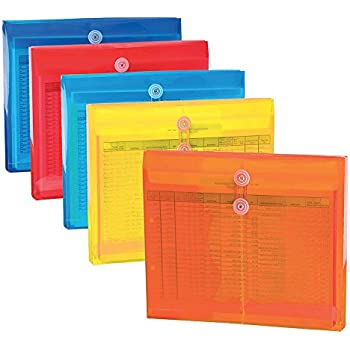 document wallet a4 button closure clear with binding holes