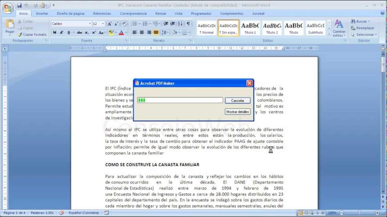 how to convert a document to pdf in word 2007
