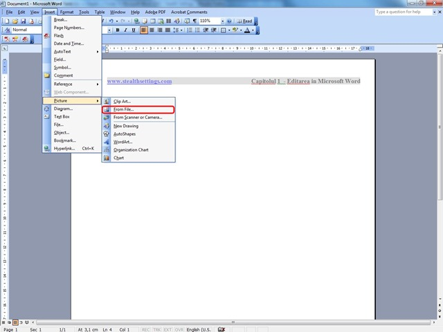 how to insert a hyperlink in a text html document