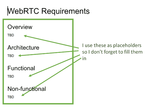 creating a functional requirements document