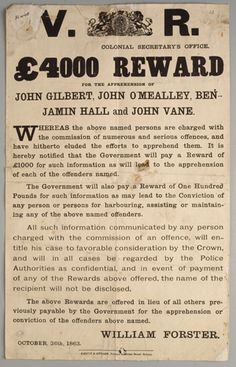 primary document from the goldfields in australia