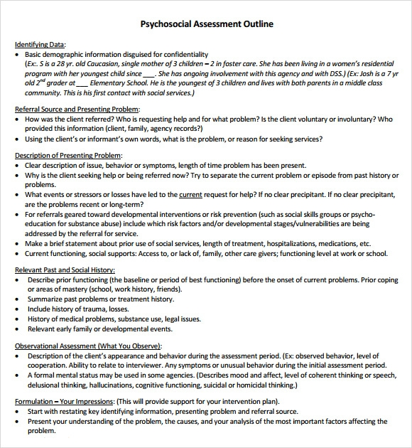 client report document in social work