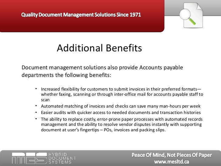 benefits of document management system ppt