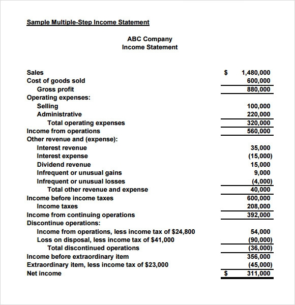 income and expenditure form word document