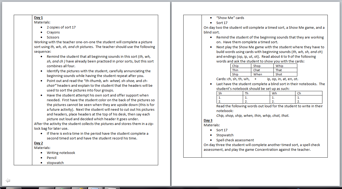 sort pages in word document