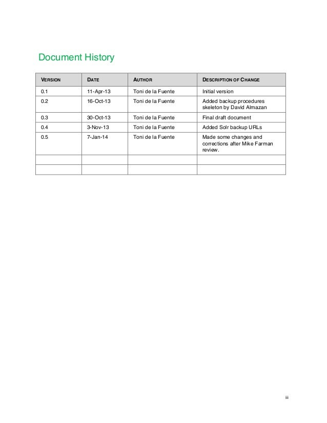 disaster recovery procedures documentation