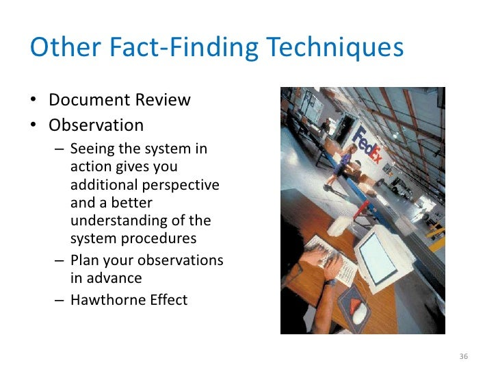 fact finding techniques document review