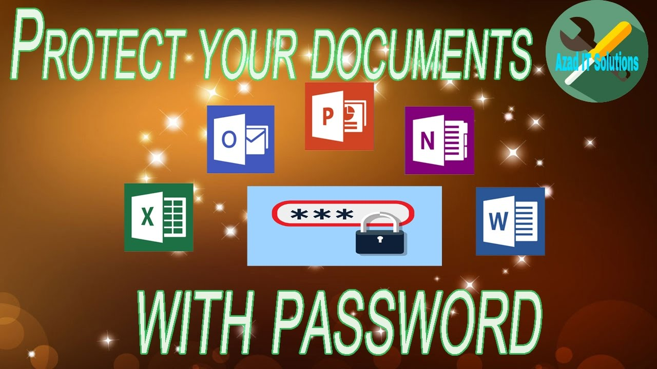 how to protect microsoft word document with password