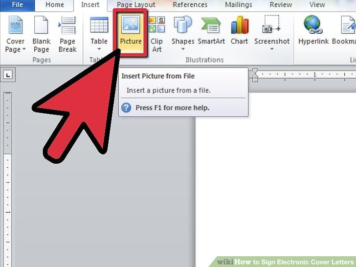 how to scan signature into word document
