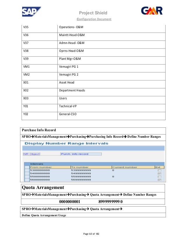 sap mm configuration real project documentation