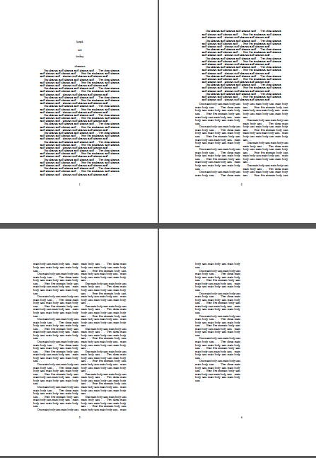 starting a new tex document